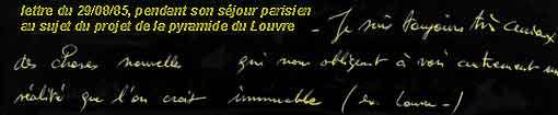 lettre du 29-08-85 de Trévisse
