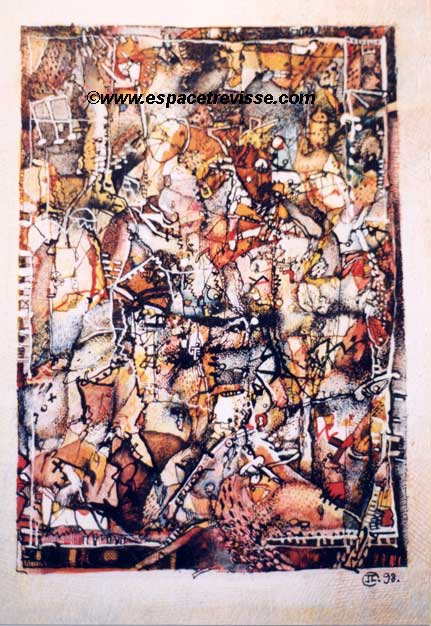 lavis à la plume 1998